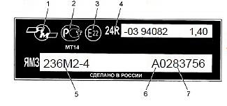маркировочная табличка (шильда)